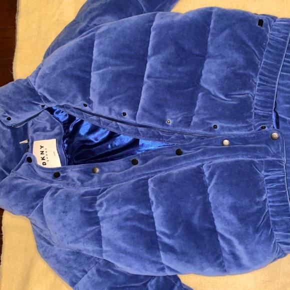 Vintage style Velvet DKNY Sport Puffer Jacket